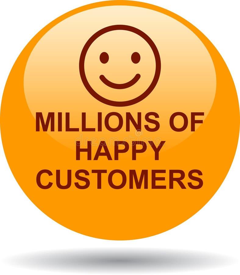 Millones de clientes felices ilustración del vector