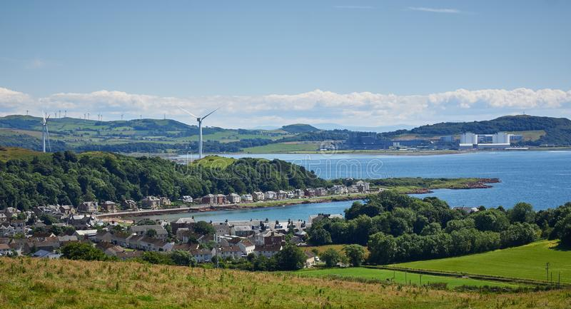 Millport-Insel von Cumbrae und Förde von Clyde stockbild