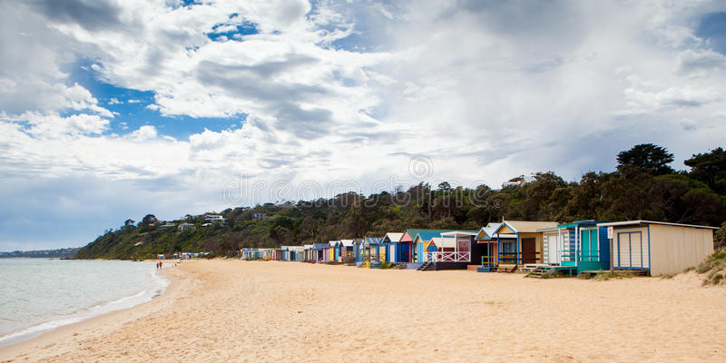 Mills Beach in Mornington fotografia stock libera da diritti