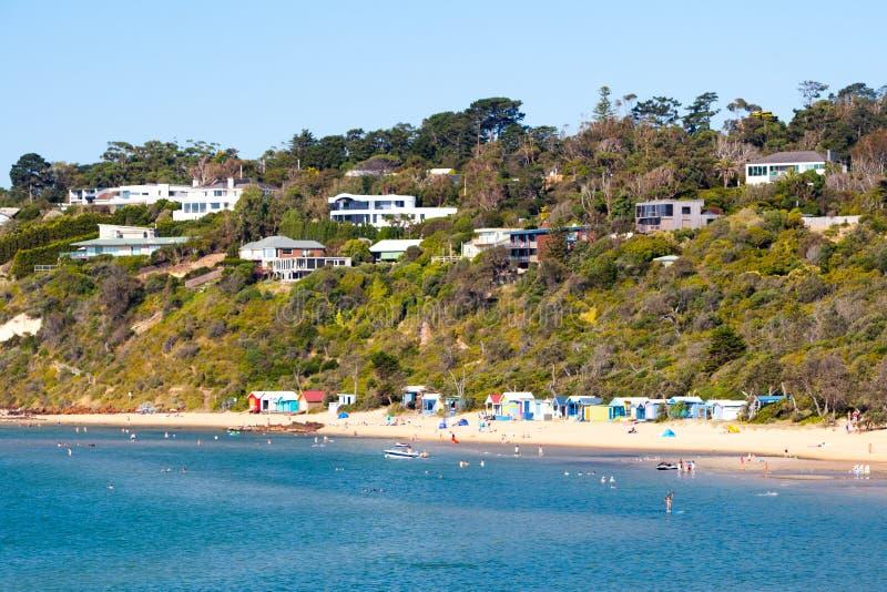Mills Beach in Mornington fotografie stock