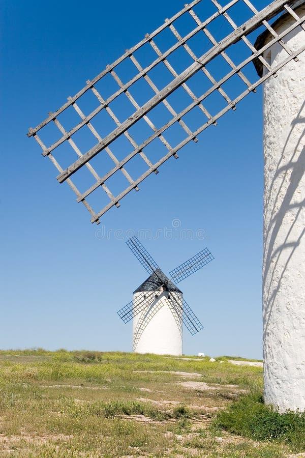 Mills, Campo de Criptana. Ciudad Real, Castilla la Mancha, Spain stock images