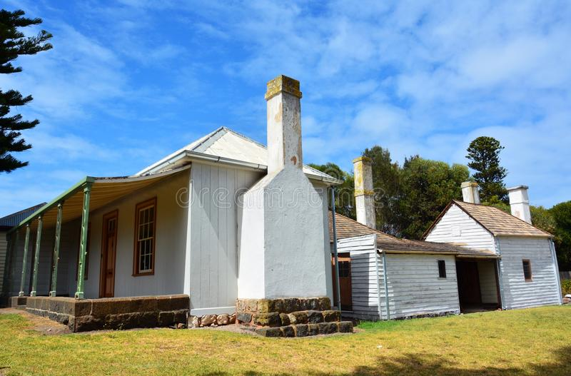 Mills Cottage in Port Fairy, VIC royalty-vrije stock afbeeldingen