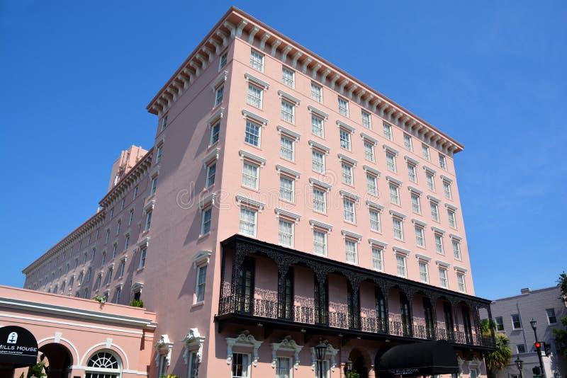 Mills House Wyndham Grand Hotel immagine stock