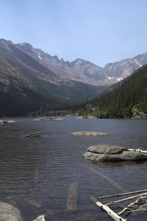 Mills Lake in Rocky Mountain National Park royalty free stock photo