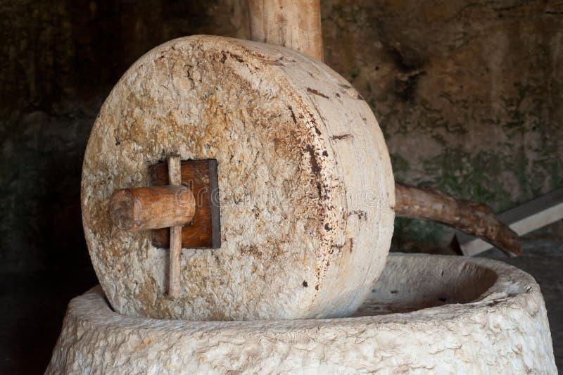 millstone Τύπος ελιών πετρελαίο&upsil στοκ εικόνες