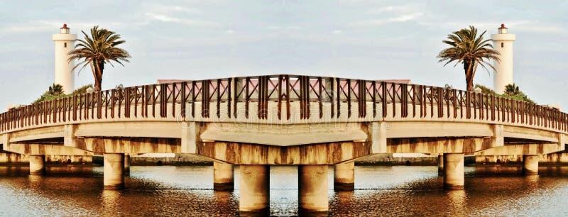 Milnerton most i latarnia morska zdjęcie royalty free