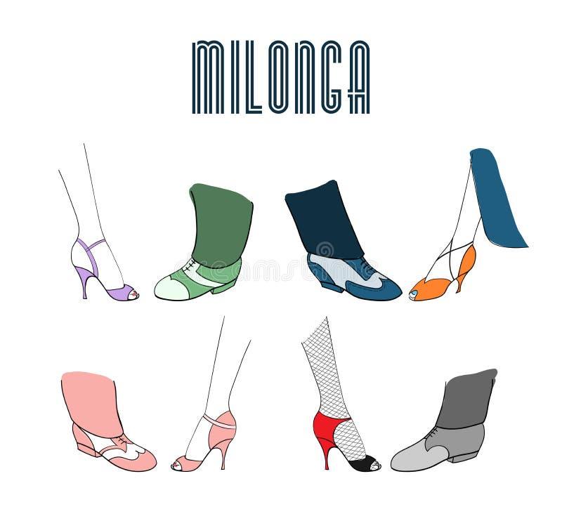 Milonga affisch vektor illustrationer