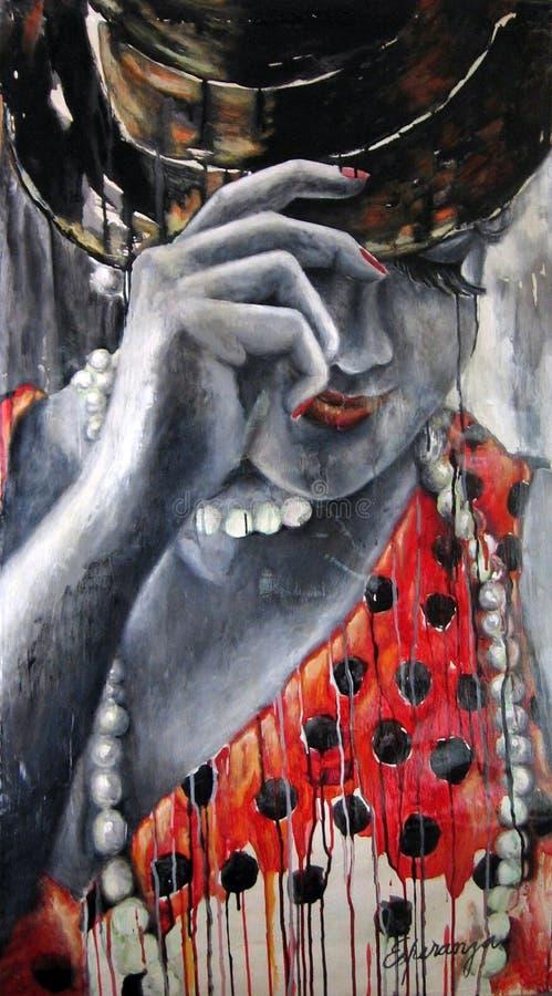 Milonguita Origineel kunstwerk van Argentijnse tango Buenos aires, Argentinië royalty-vrije illustratie