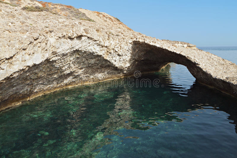 Download Milos island in Greece stock image. Image of cavity, geologic - 31278203