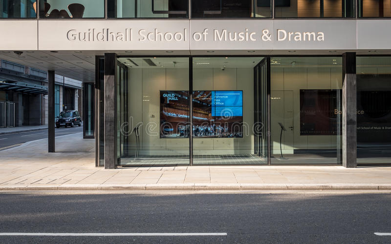 Milton Court, The Guildhall School of Music and Drama, London stock photo
