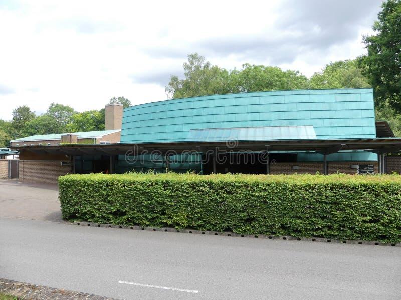 Milton kaplica, Chilterns Crematorium, Whielden pas ruchu, Amersham zdjęcie stock