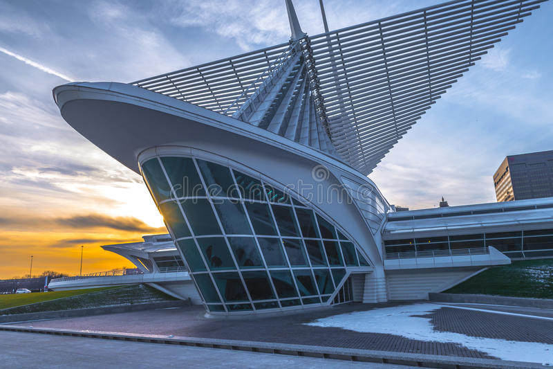 Milwaukee Art Museum stockbilder