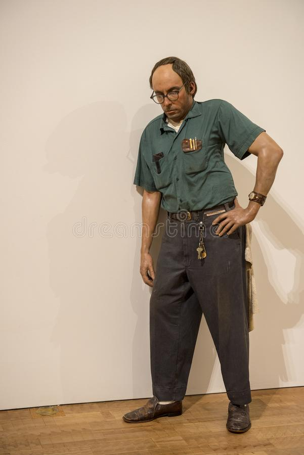 Milwaukee Art Museum, der Hausmeister lizenzfreie stockfotografie