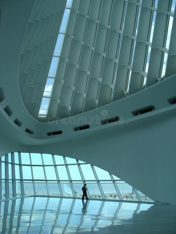 Milwaukee Art Museum, Innen stockbild