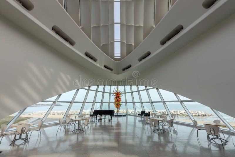 Milwaukee Art Museum Interior lizenzfreies stockfoto