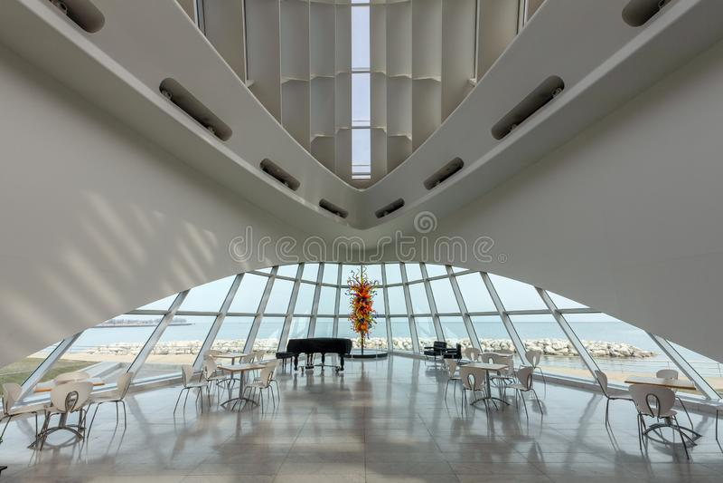 Milwaukee Art Museum Interior royalty free stock photo
