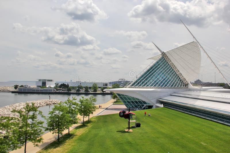 Milwaukee Art Museum, Milwaukee, Wisconsin, Midwest USA. stock photography