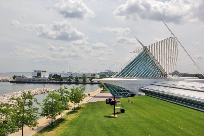 Milwaukee Art Museum, Milwaukee, Wisconsin, Mittelwesten USA stockfotografie