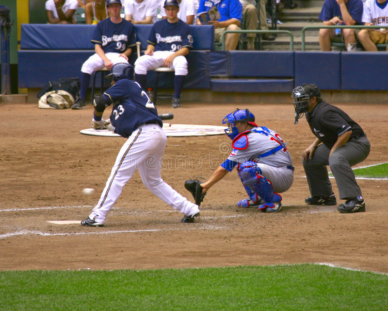 Milwaukee Brewers-Baseball lizenzfreie stockfotos