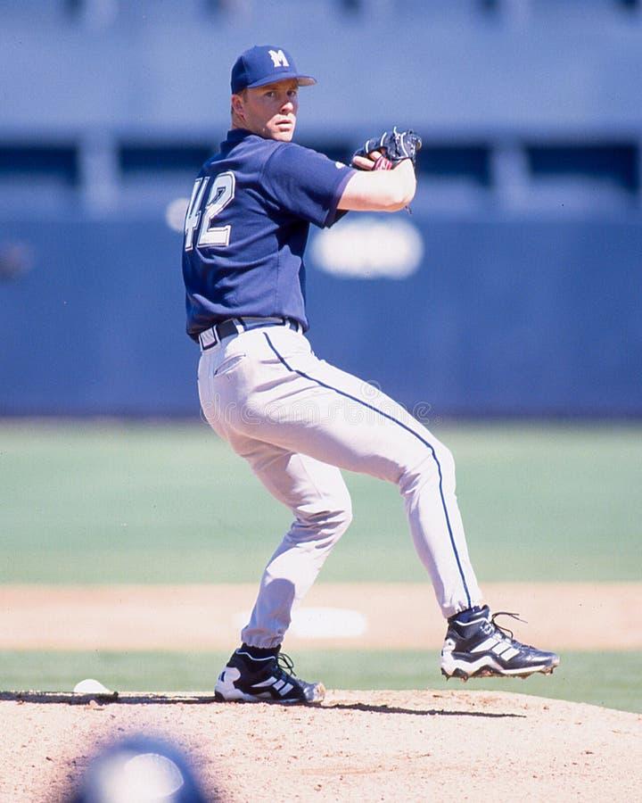 Milwaukee Brewers-Pitcher Scott Karl lizenzfreie stockfotos