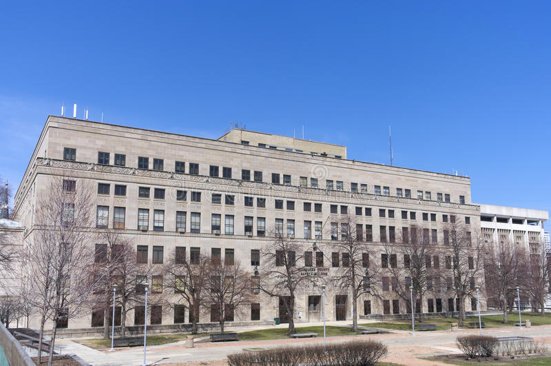 Milwaukee County Sicherheits-Gebäude stockfoto