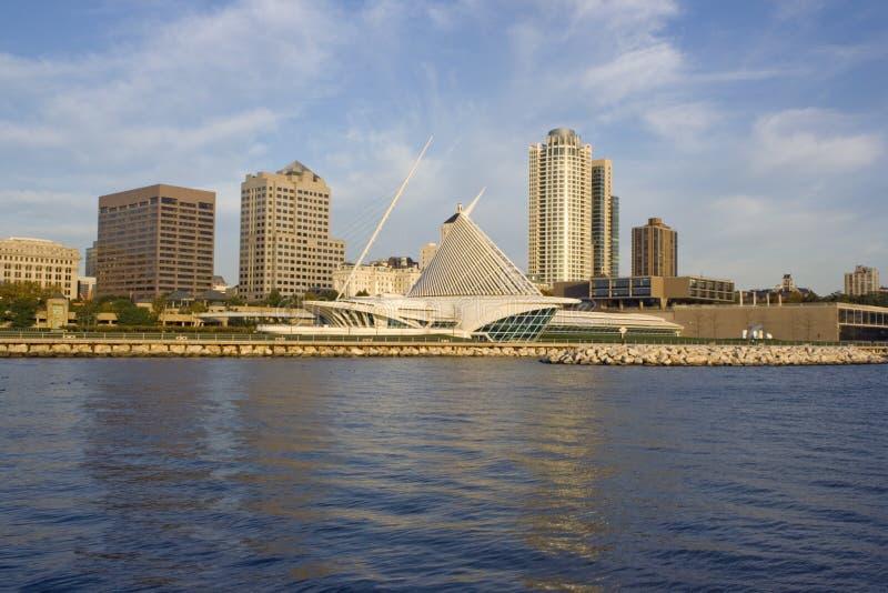 Milwaukee da baixa, Wisconsin. fotos de stock