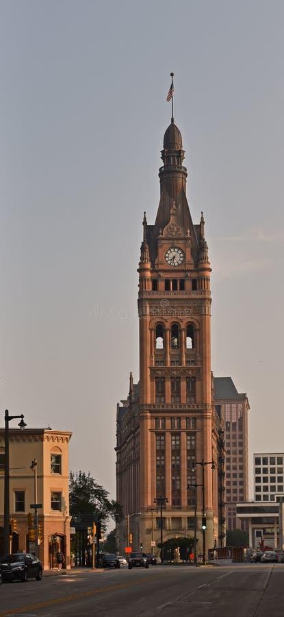 Milwaukee da baixa, Wisconsin fotografia de stock