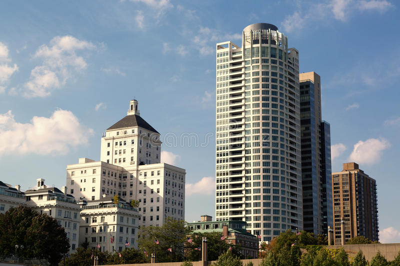 Milwaukee downtown royalty free stock photography