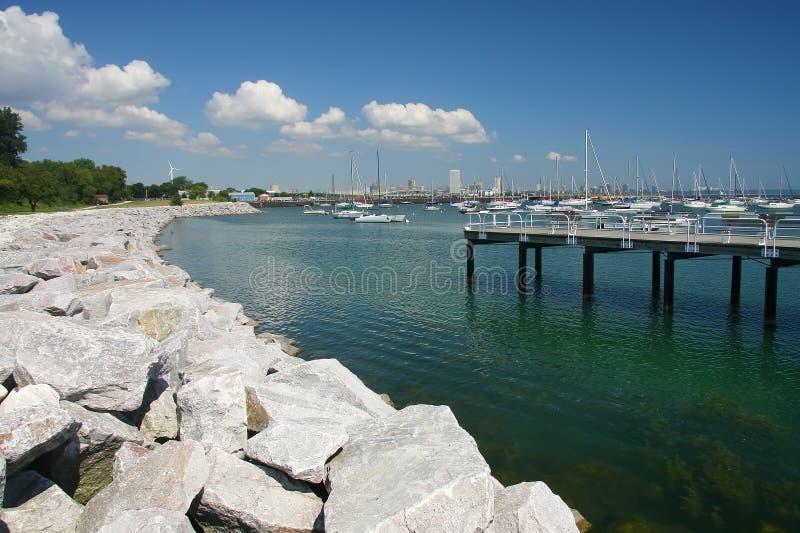 Milwaukee-Hafen lizenzfreie stockfotos