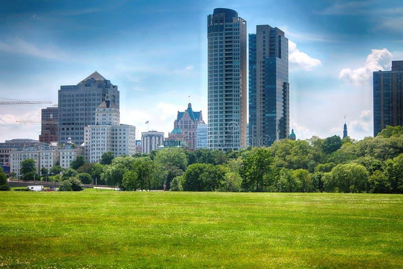 Milwaukee horisont royaltyfria bilder