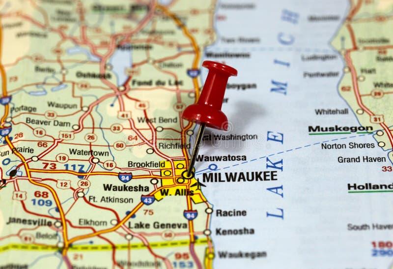 Milwaukee i Wisconsin, USA arkivbild