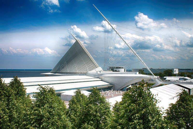 Milwaukee-Kunst Museum auf der See-Front stockfoto