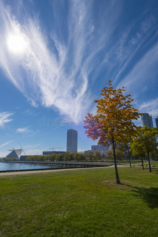 Milwaukee le Wisconsin sur Sunny Day photo stock