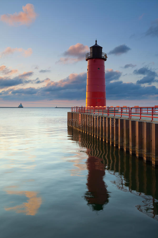 Milwaukee-Leuchtturm. stockbilder