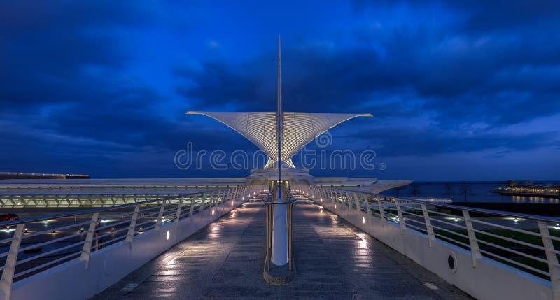 Milwaukee muzeum sztuki panoramiczny zdjęcia stock