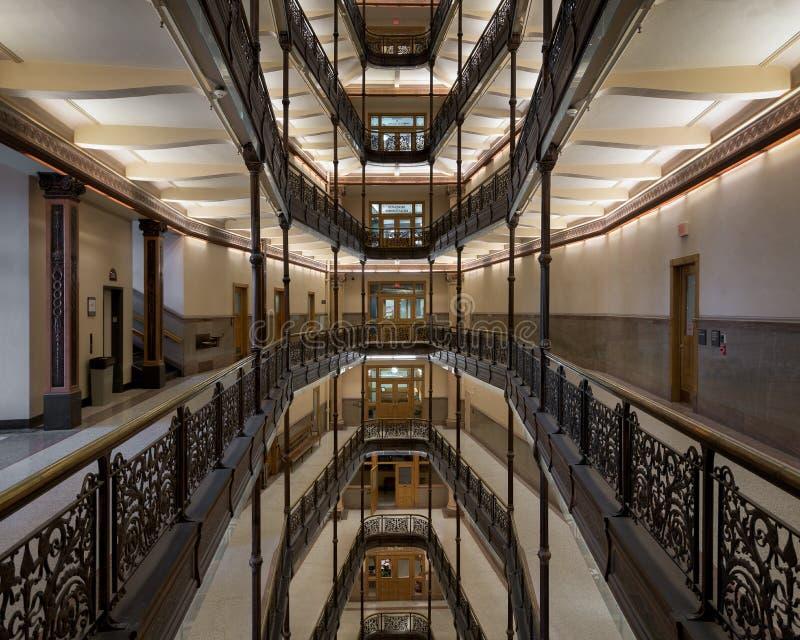 Milwaukee-Rathaus-Innenraum stockbilder