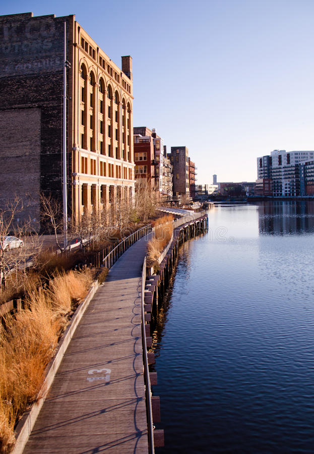 Download The Milwaukee River stock photo. Image of bend, street - 23268052