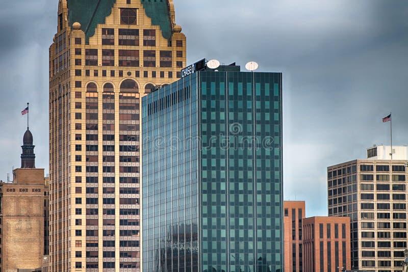 Milwaukee-Skyline stockbilder
