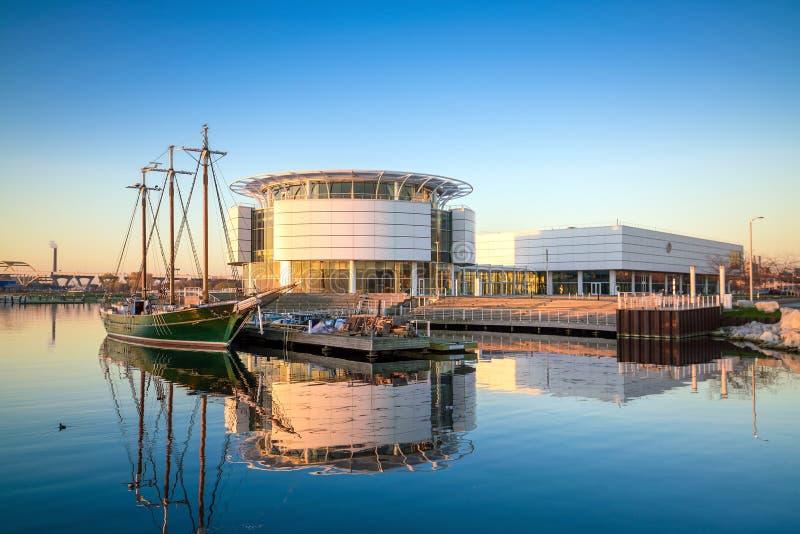 Milwaukee-Skyline lizenzfreies stockbild