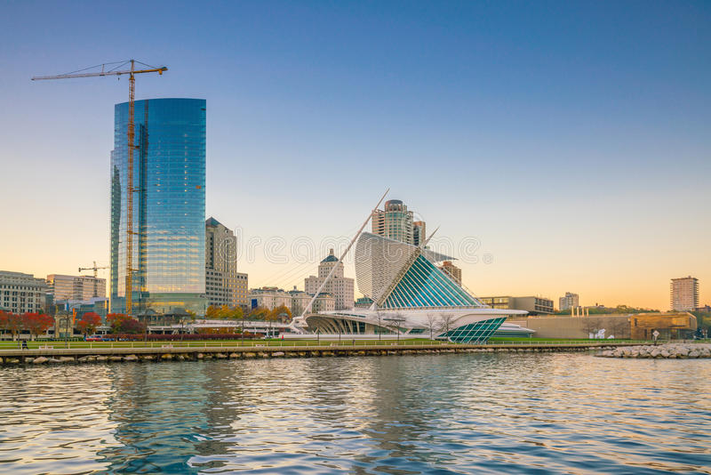 Milwaukee-Skyline in USA stockfoto