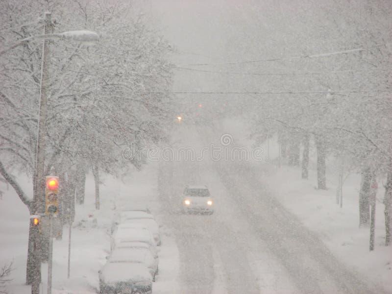 milwaukee snowstorm wisconsin royaltyfri bild