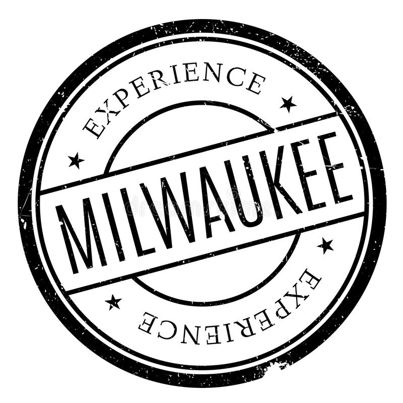 Milwaukee-Stempelgummischmutz lizenzfreie stockfotos