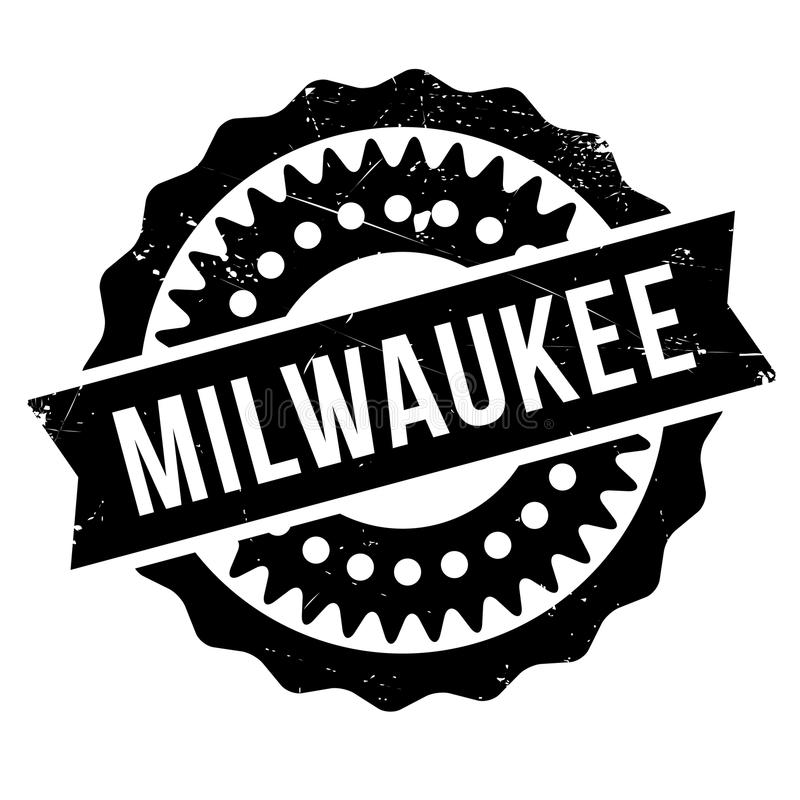 Milwaukee-Stempelgummischmutz stockbild