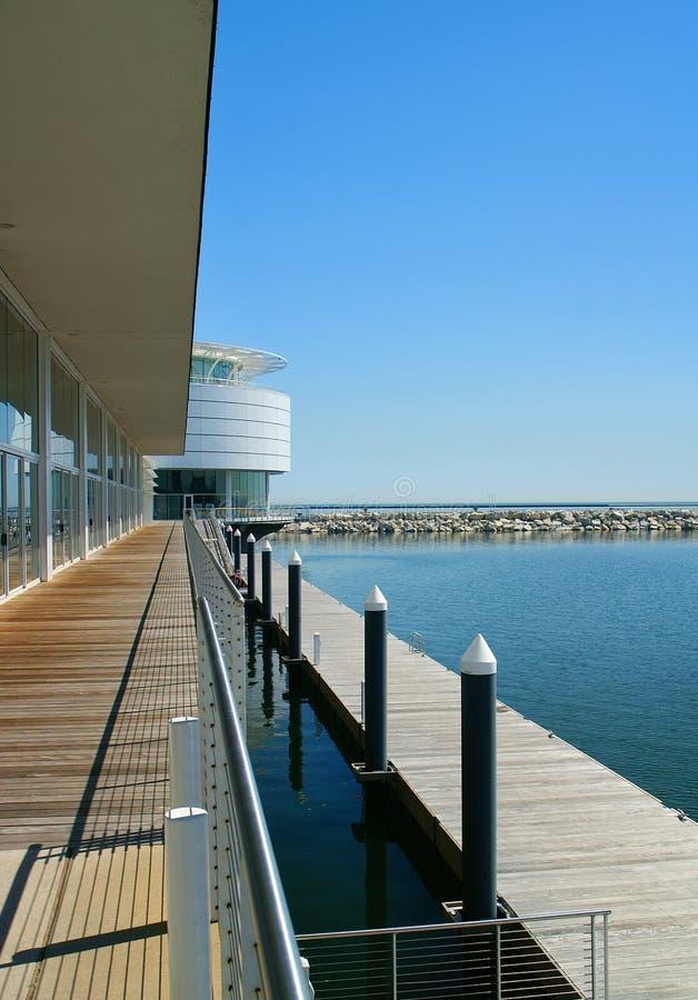 Milwaukee Waterfront Apartment Scene stock image