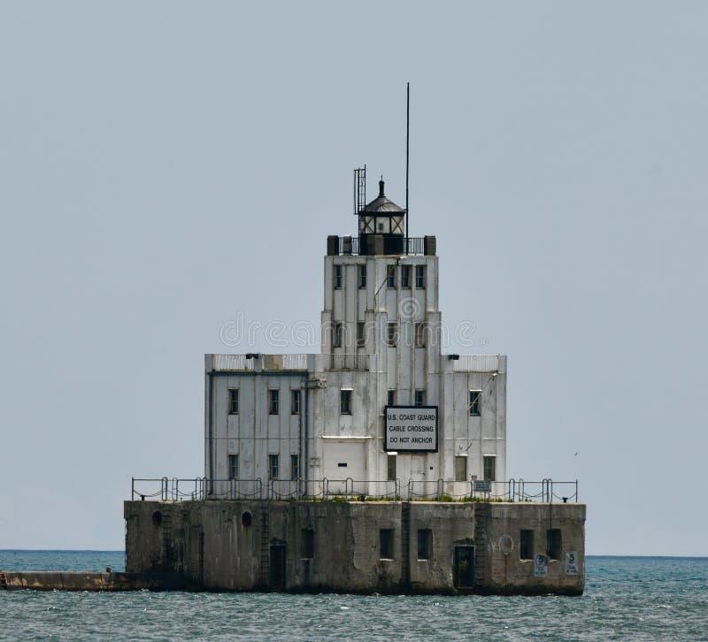 Milwaukee-Wellenbrecher-Leuchtturm stockfoto