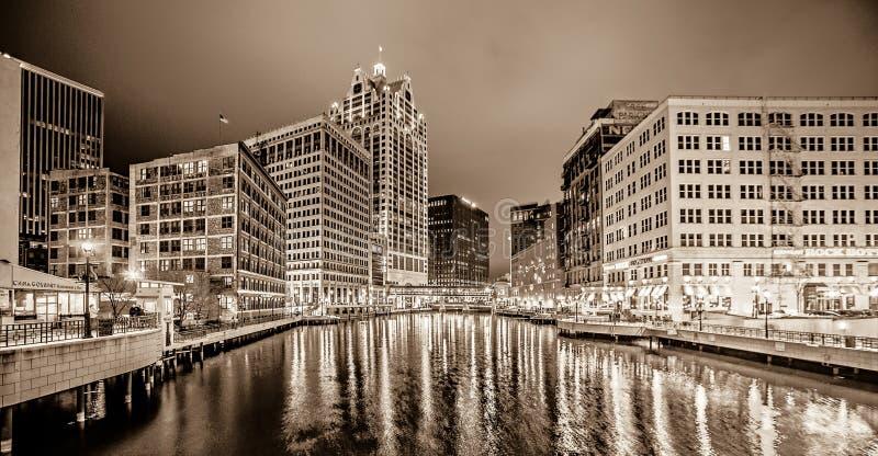 Milwaukee-wisconcin Stadt und Straßenbilder stockfoto