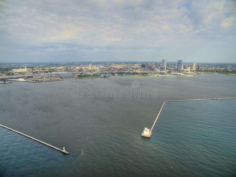 Milwaukee, Wisconsin di estate in fuco fotografia stock