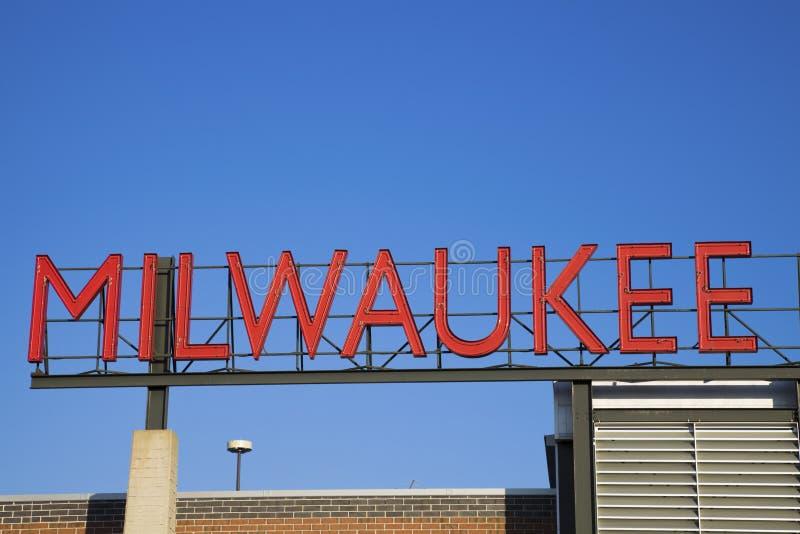 Milwaukee-Zeichen stockbild