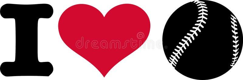 Mim basebol do coração ilustração stock