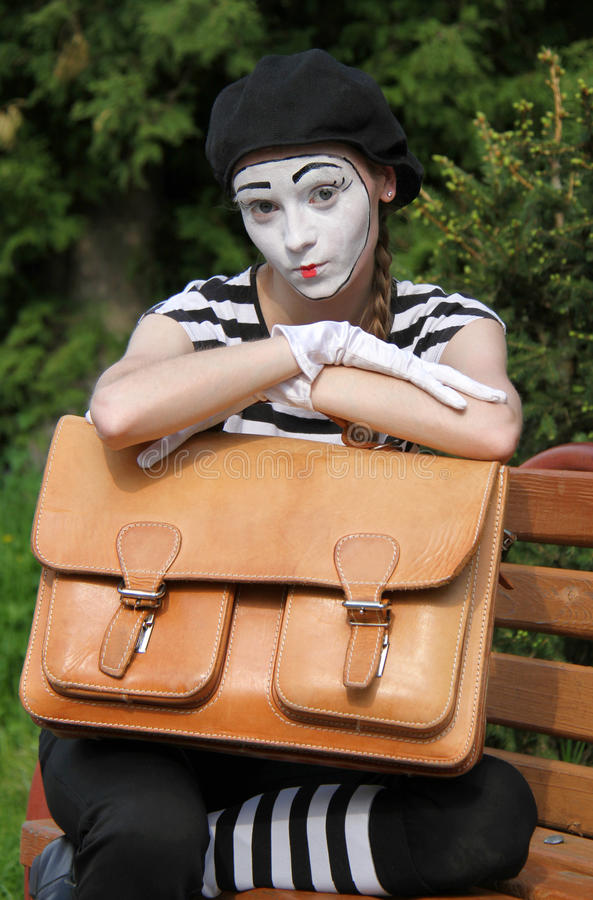 Download Mim and briefcase stock photo. Image of circus, humor - 31406172